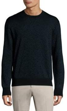 Salvatore Ferragamo Printed Wool Sweater
