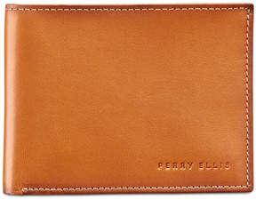 Perry Ellis Men's Super-Slim Leather Wallet