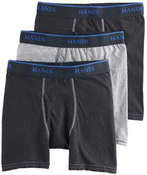 Hanes Boys 3-Pack Dyed Boxer Briefs