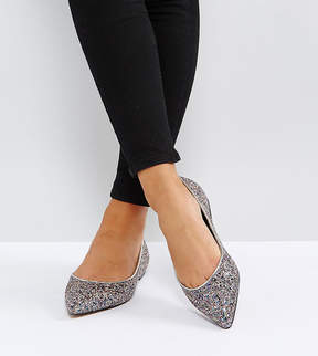 Asos LATCH Wide Fit Pointed Ballet Flats