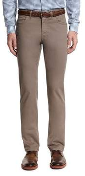 Brioni Five-Pocket Twill Pants, Khaki