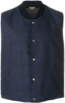 N.Peal woven front cashmere gilet