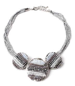 Amrita Singh Silvertone Arzo Necklace