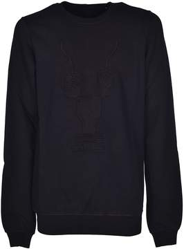 Drkshdw Rick Owens Embroidered Sweatshirt
