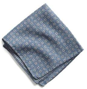 Todd Snyder Italian Wool Pocket Square in Light Blue Circle