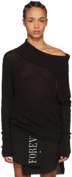 Ann Demeulemeester Black Sibilla Off-the-Shoulder Sweater