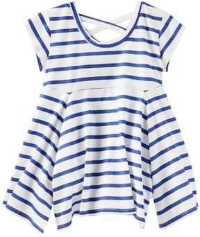 Osh Kosh Oshkosh Bgosh Girls 4-12 Striped Handkerchief Hem Tunic Top
