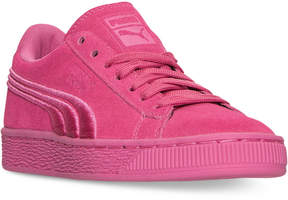 Puma Girls' Suede Classic Badge Casual Sneakers from Finish Line