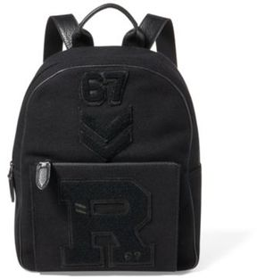Ralph Lauren Patchwork Wool Backpack Black One Size