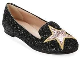 Chiara Ferragni Star-Embroidered Loafers