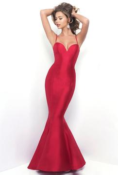 Blush Lingerie Spaghetti Straps Sweetheart Mermaid Gown 11285