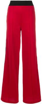Amen sequined side stripe palazzo pants