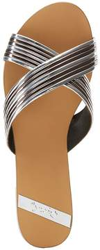 Charlotte Russe Qupid Metallic Band Slide Sandals