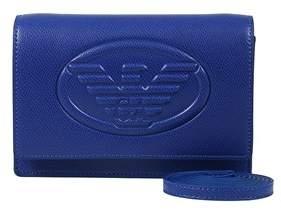Emporio Armani Y3b086 Yh18a 80070 Cobalt Clutch Handbag.