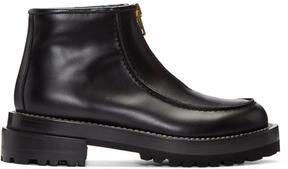 Marni Black Zip Ankle Boots