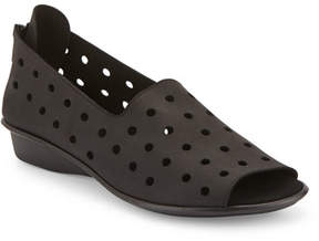 Sesto Meucci Edwina Perforated Open-Toe Slip-On, Black