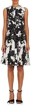 Valentino Women's Butterfly-Appliquéd Silk Shift Dress