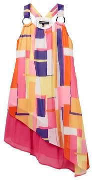 My Michelle mymichelle O-Ring Tank Dress with Asymmetrical Hem (Big Girls)
