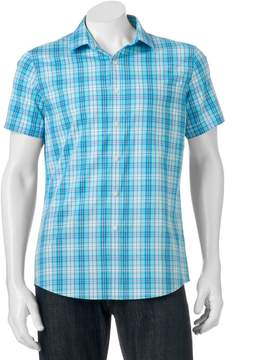 Apt. 9 Big & Tall Slim-Fit Patterned Stretch Button-Down Shirt