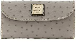 Dooney & Bourke Ostrich Collection Continental Clutch Wallet - GREY - STYLE