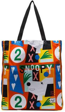 Herschel multicoloured graphic print canvas tote bag