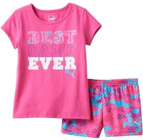 Puma Toddler Girl Best Game Ever Tee & Shorts Set