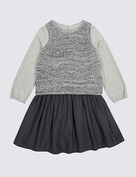 Marks and Spencer 2 Piece Cardigan with Dress Outfit (3 Months-5 Years)