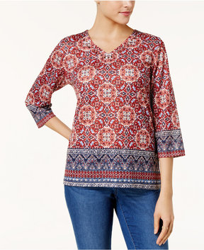 Alfred Dunner Gypsy Moon Embellished T-Shirt