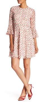 Donna Morgan Rose Printed Bell Sleeve Dress