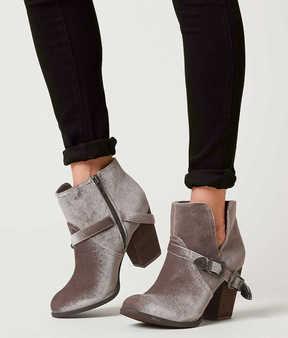 Not Rated Jibu Velvet Ankle Boot