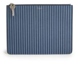 Givenchy SLG Striped Leather Zip Pouch