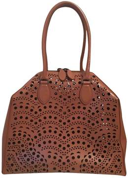 Alaia Leather bowling bag