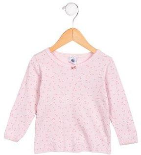 Petit Bateau Girls' Star Print Long Sleeve Top