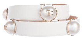 Chanel Pearl CC Embellished Belt