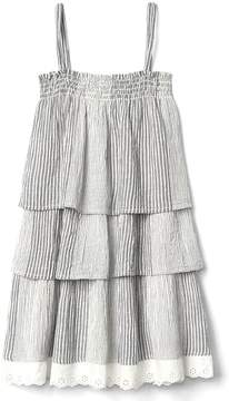 Gap Stripe tier spaghetti dress