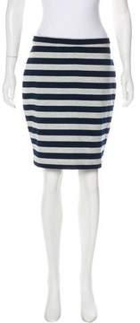 Barneys New York Barney's New York Striped Bodycon Skirt