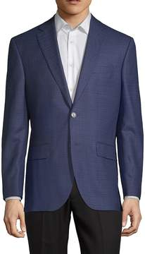 Jack Victor Men's Conway Notch Lapel Wool Jacket