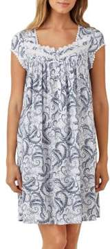 Eileen West Feather Print Dress