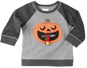 Mud Pie Pumpkin Sweatshirt in Grey