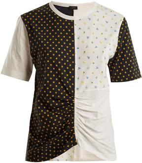 Joseph Round-neck patchwork print cotton T-shirt