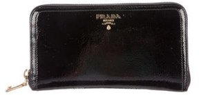 Prada Vernice Continental Wallet