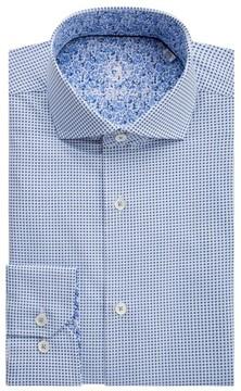 Bugatchi Men's Trim Fit Geometric Dress Shirt