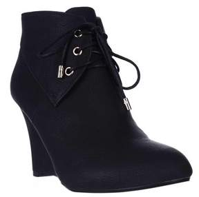 Thalia Sodi Ts35 Noa Wedge Ankle Boots, Black.