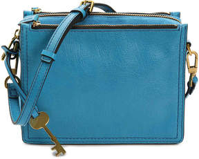Fossil Campbell Leather Crossbody Bag -Cerulean Blue - Women's