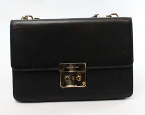 Michael Kors Womens Sloan Leather Gusset Crossbody Handbag - BLACK - STYLE