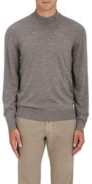 Luciano Barbera Men's Wool Mock-Turtleneck Sweater