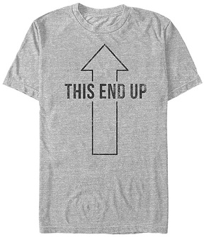 Fifth Sun Heather Gray 'This End Up' Gaming Achievements - Men's Regular & Big