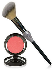 It Cosmetics Vitality Cheek Flush Powder Blush Stain & Brush