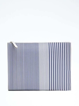 Stripe Large Expandable Pouch