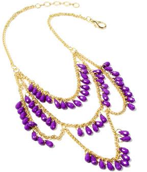 Amrita Singh Purple & Goldtone Spring Street Necklace